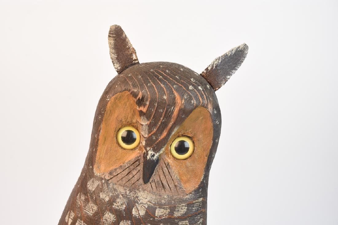 Wood Carved Owl by John K. Jewell & Stone Owl - 4