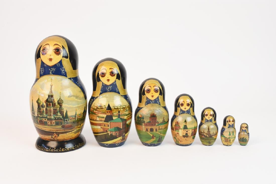 Authentic Russian Nesting Dolls; signed - 10