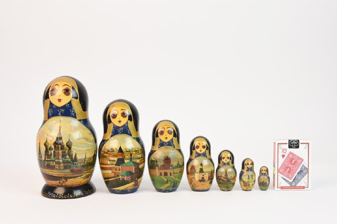 Authentic Russian Nesting Dolls; signed - 11