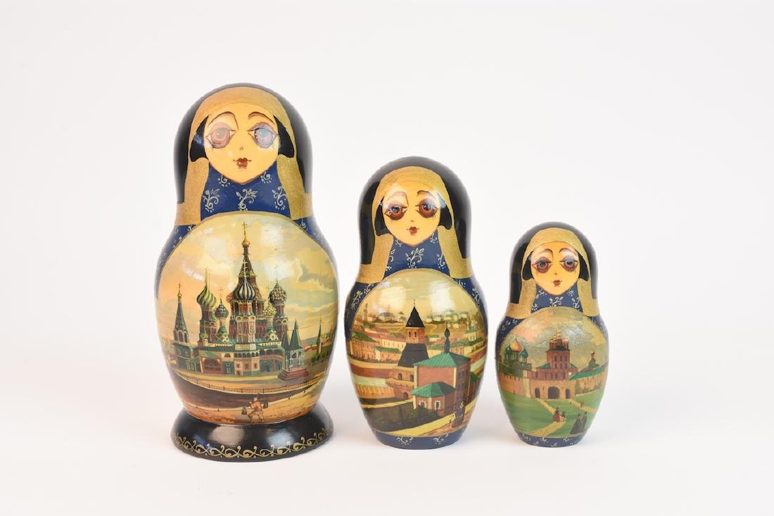 Authentic Russian Nesting Dolls; signed - 12