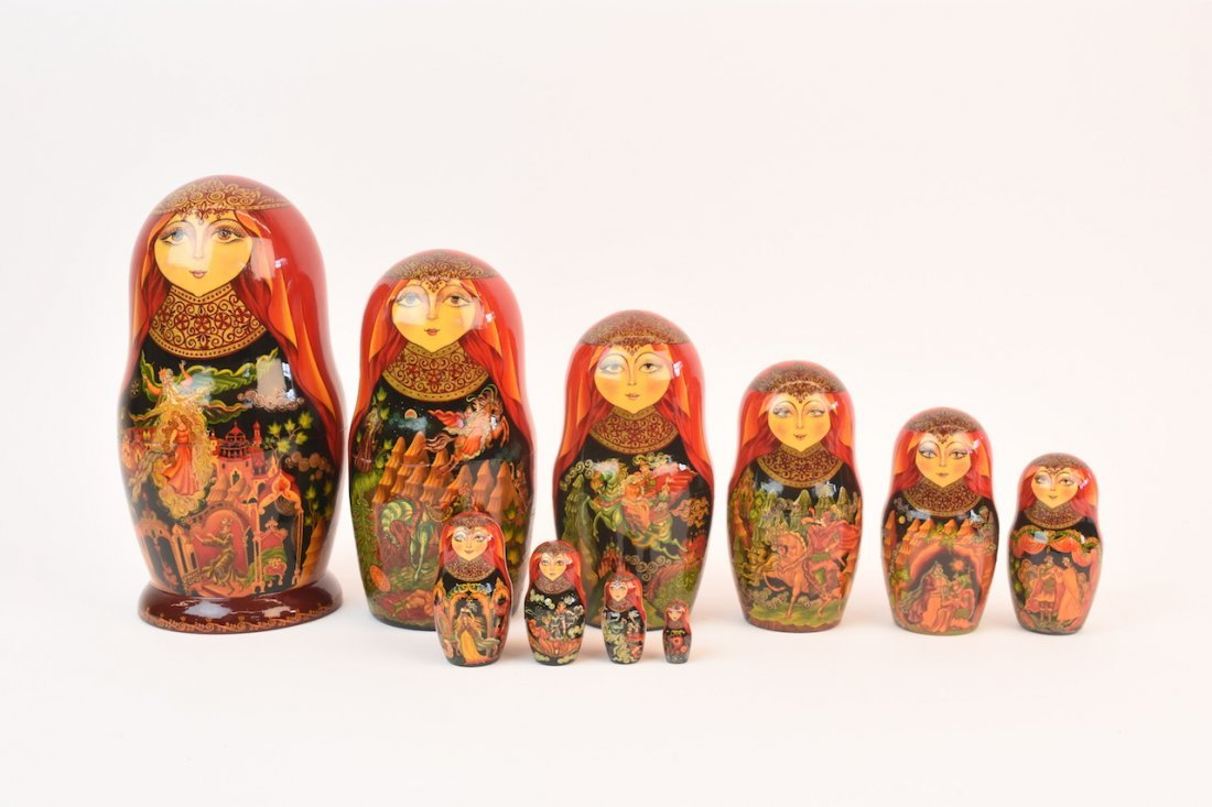 Authentic Russian Nesting Dolls; signed - 17