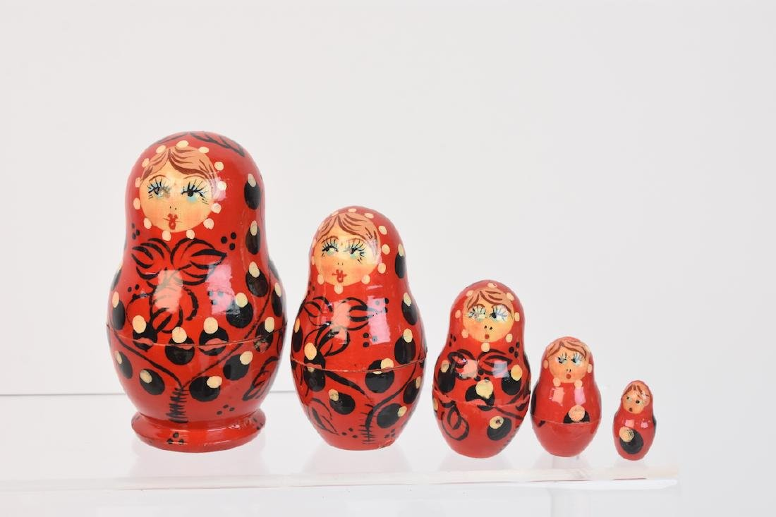 Authentic Russian Nesting Dolls; signed - 2
