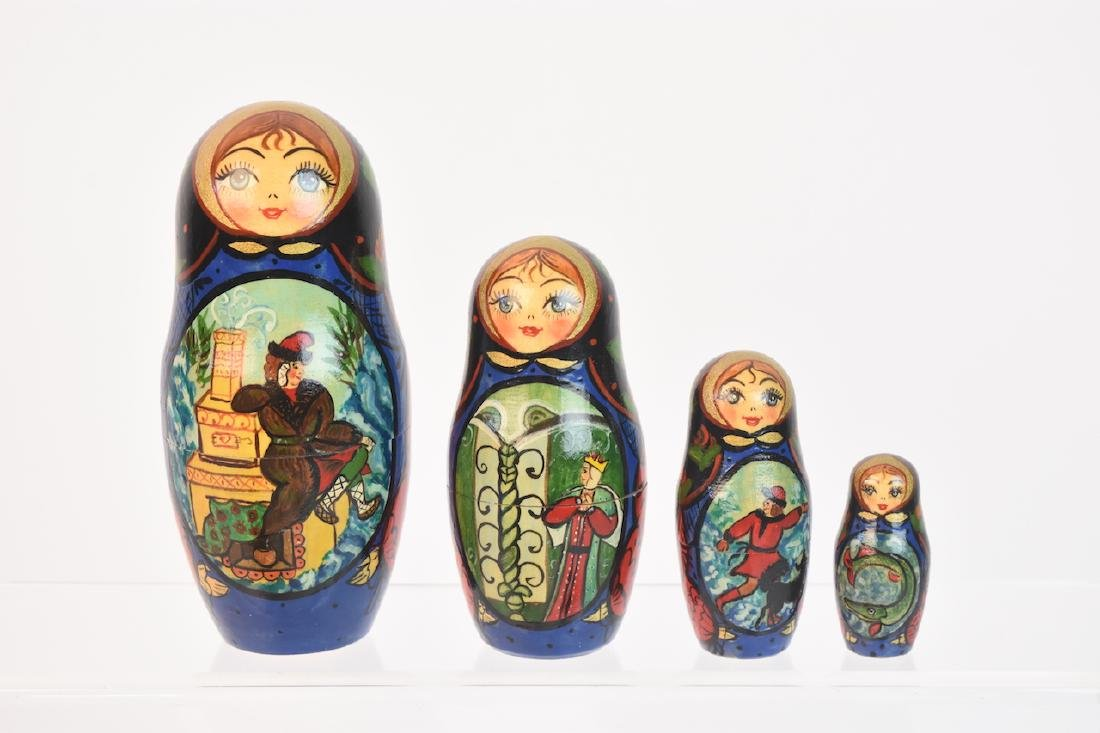 Authentic Russian Nesting Dolls; signed - 5