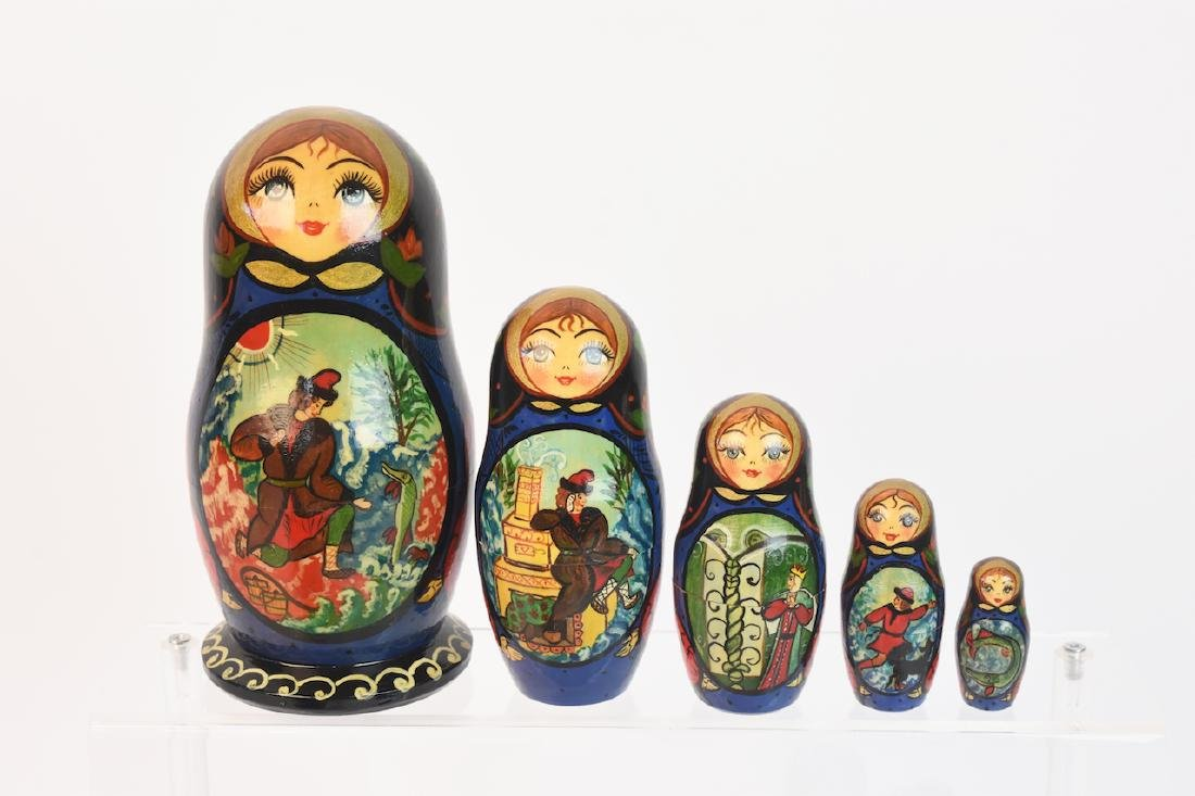 Authentic Russian Nesting Dolls; signed - 7