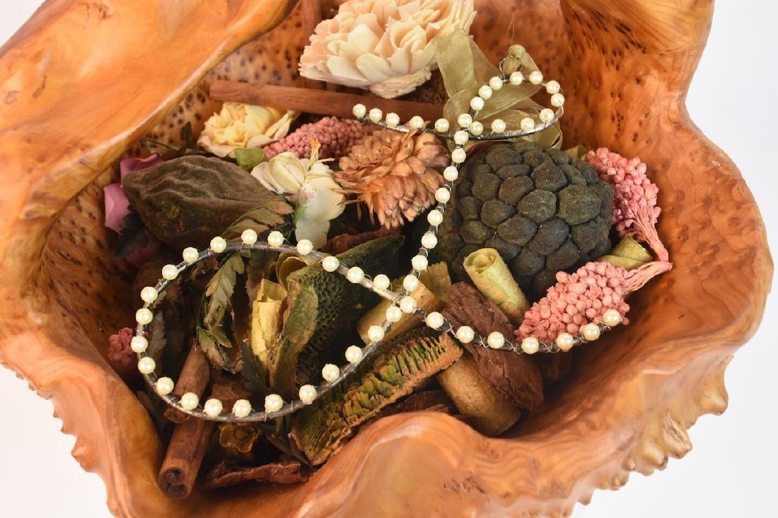 (2) Artist Carved Wood Baskets - 11