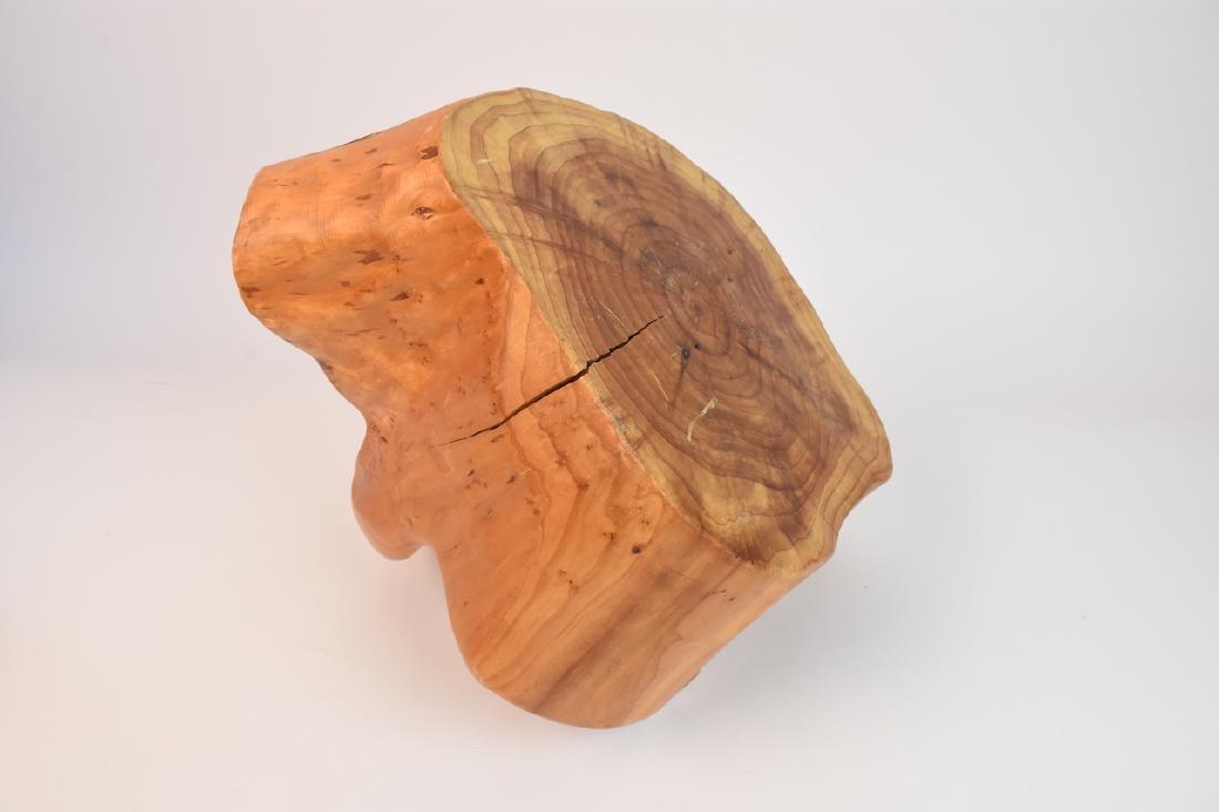 (2) Artist Carved Wood Baskets - 5