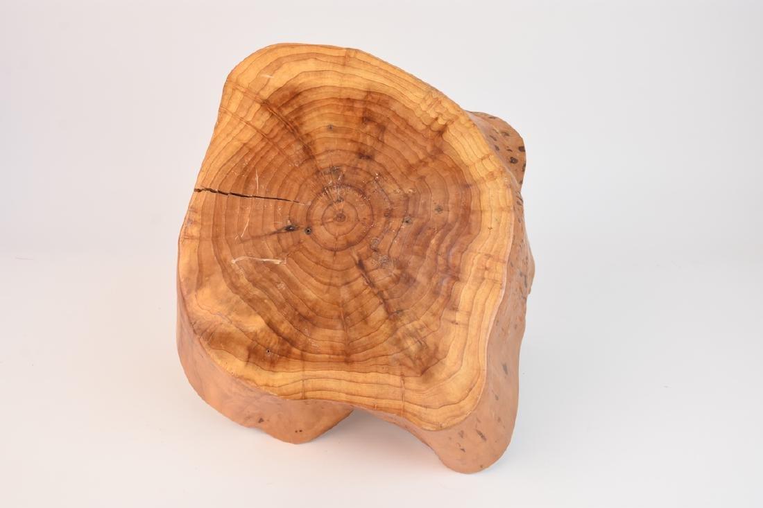 (2) Artist Carved Wood Baskets - 6