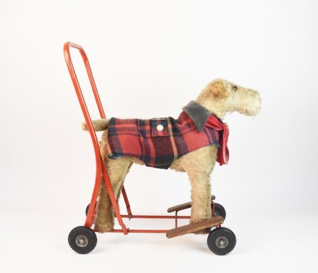 Line Bros. Tri-ang Children's Mohair Ride-on Dog