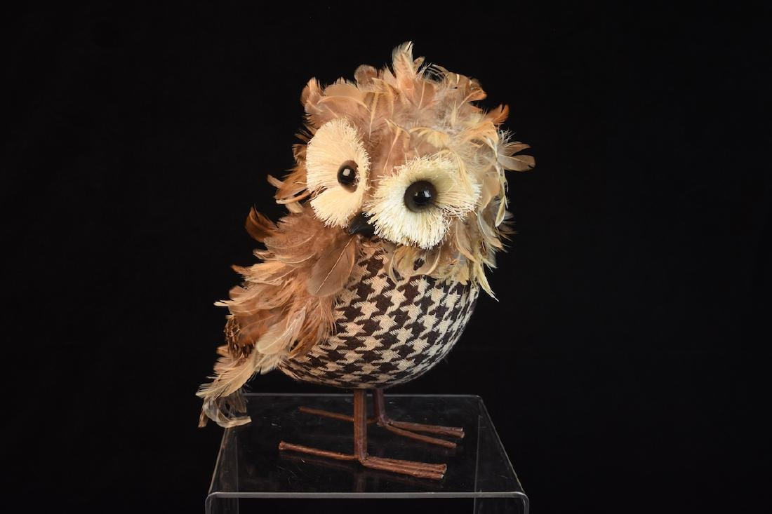 Trio of Feathered Owl Figurals - 2