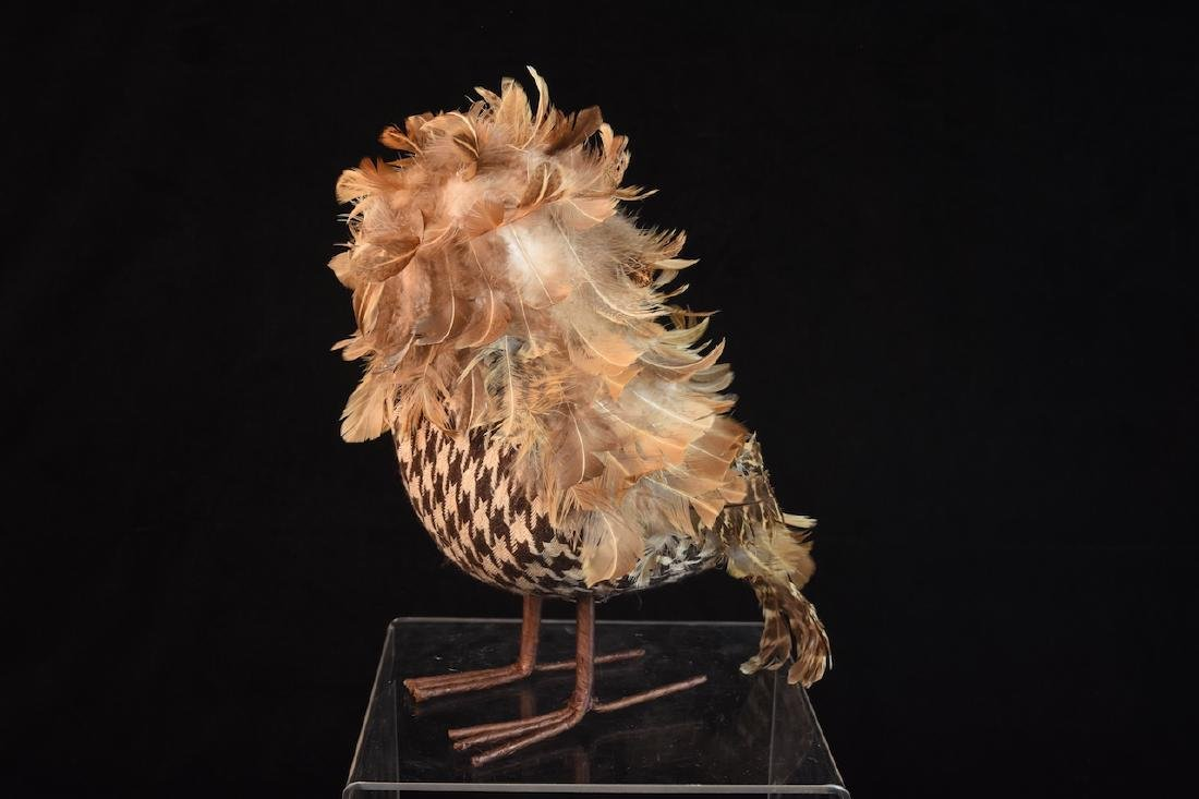 Trio of Feathered Owl Figurals - 3