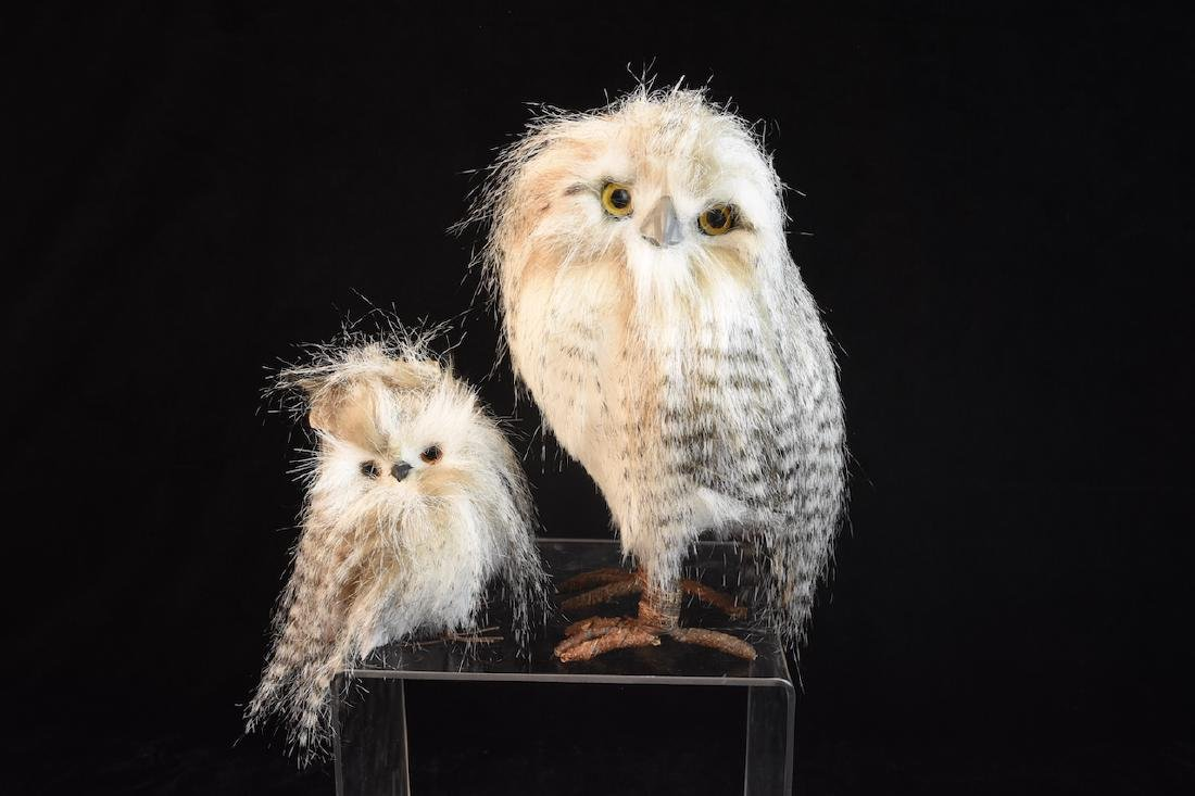 Trio of Feathered Owl Figurals - 4