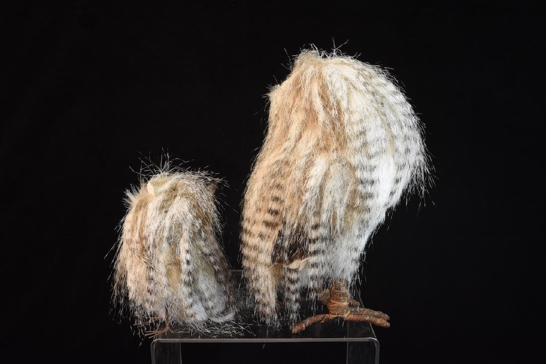 Trio of Feathered Owl Figurals - 5