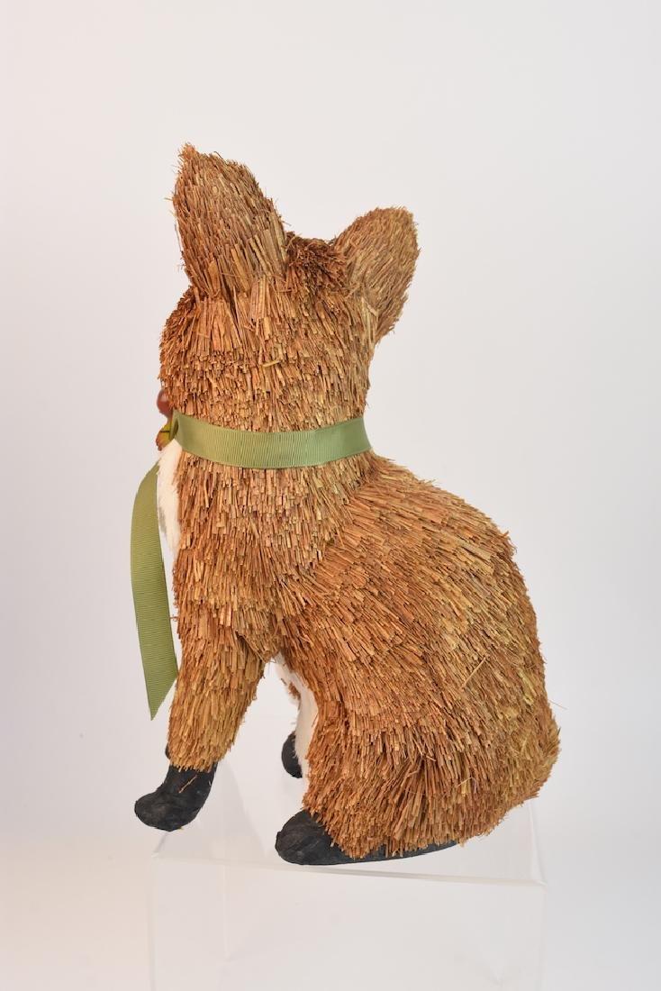 (2) Natural Straw Fox Statues - 9
