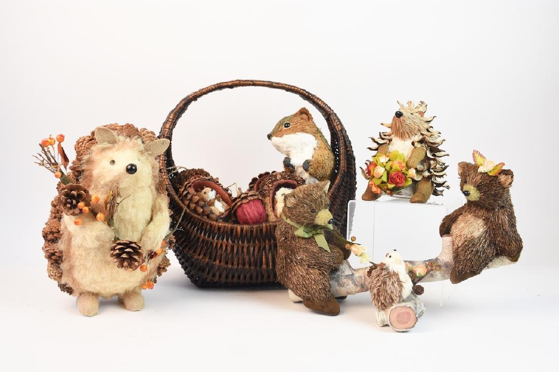 Collection of Natural Straw Woodland Creatures