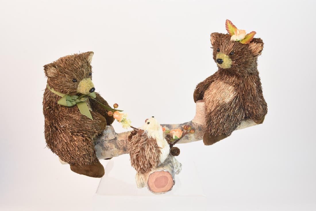Collection of Natural Straw Woodland Creatures - 4