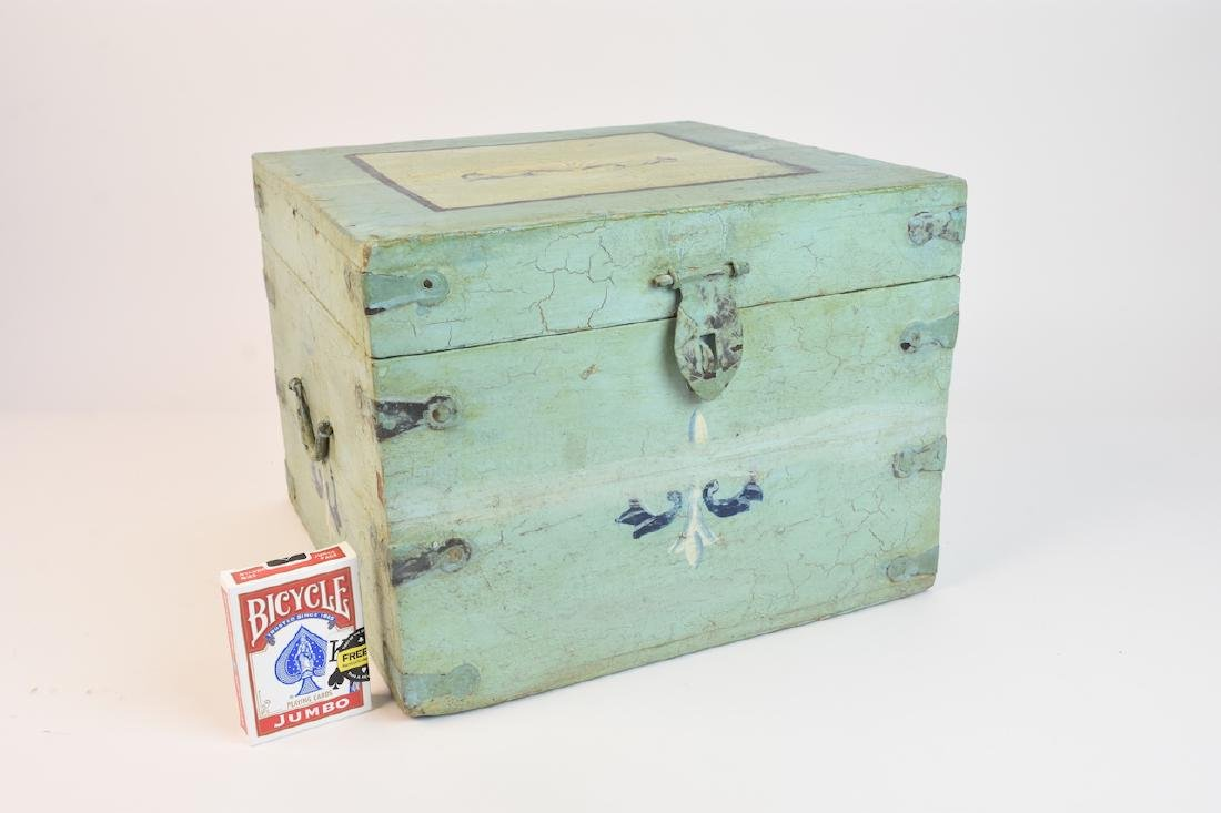 Shabby Chic Seafoam Green Quarter Trunk - 8