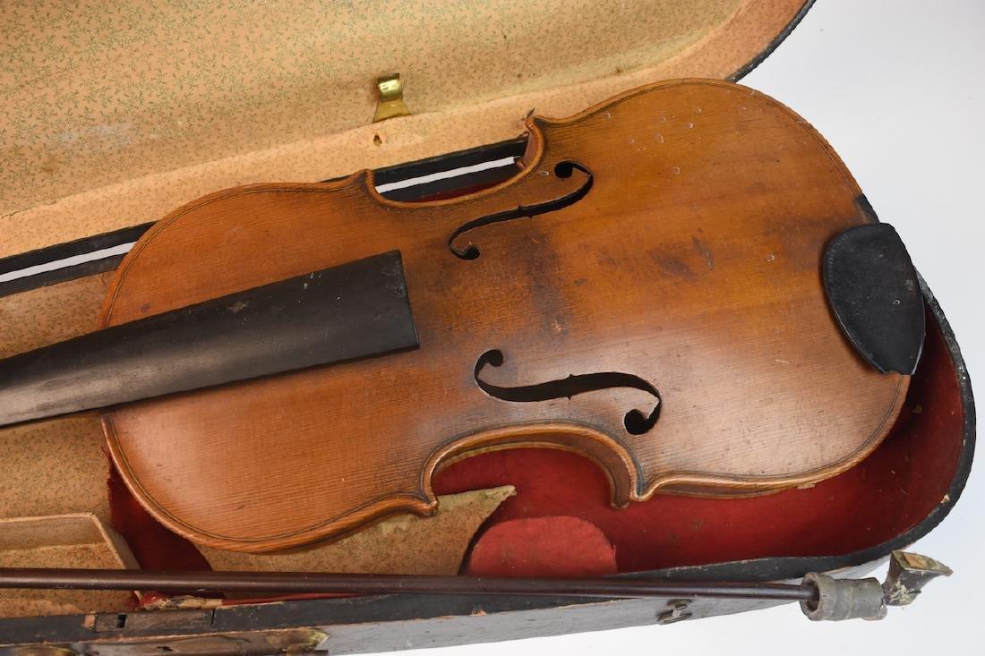 Vintage Conservatory Violin in G.S.B. Case - 2