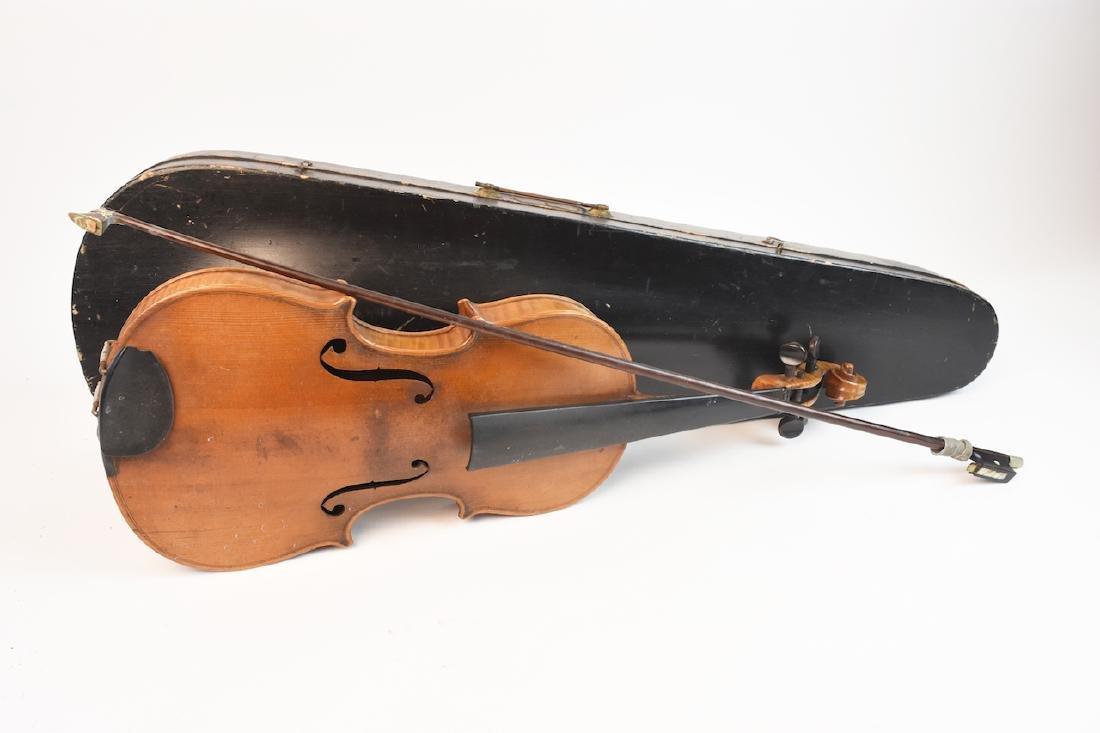 Vintage Conservatory Violin in G.S.B. Case - 8