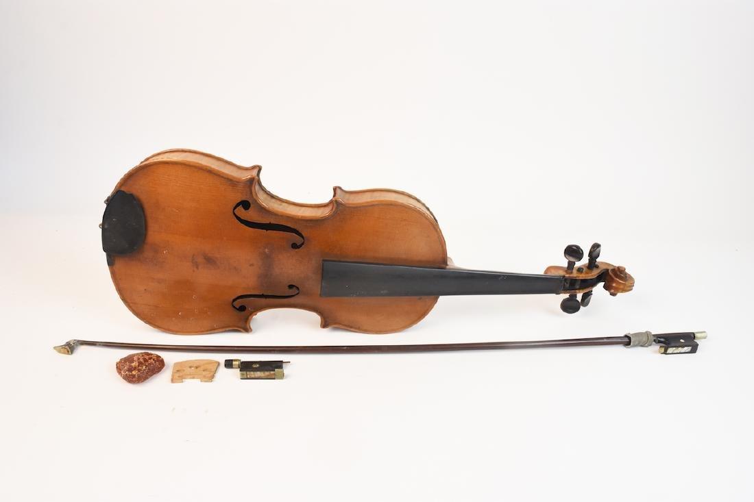 Vintage Conservatory Violin in G.S.B. Case - 9