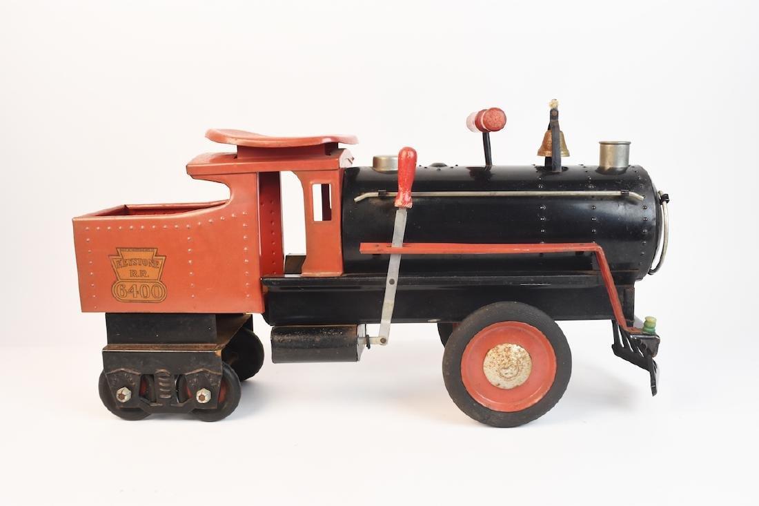 Keystone R.R. 6400 Ride-On Engine Toy