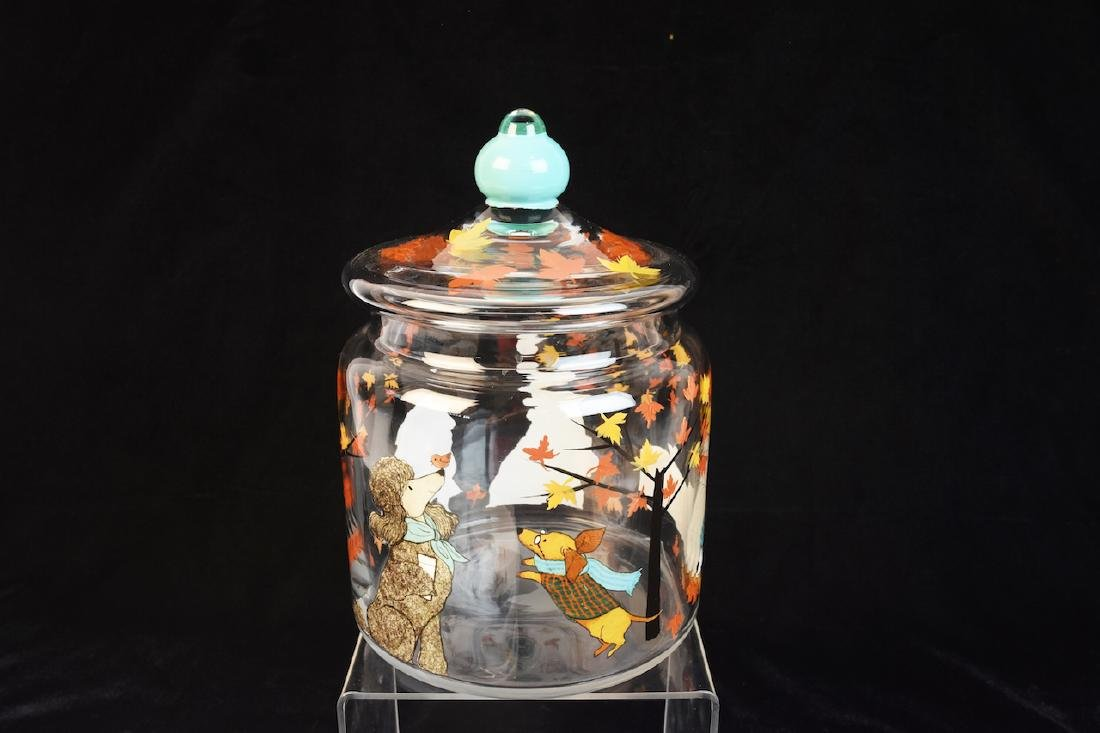 Whimsical Dog Inspired Bowls, Tray & Jar - 2