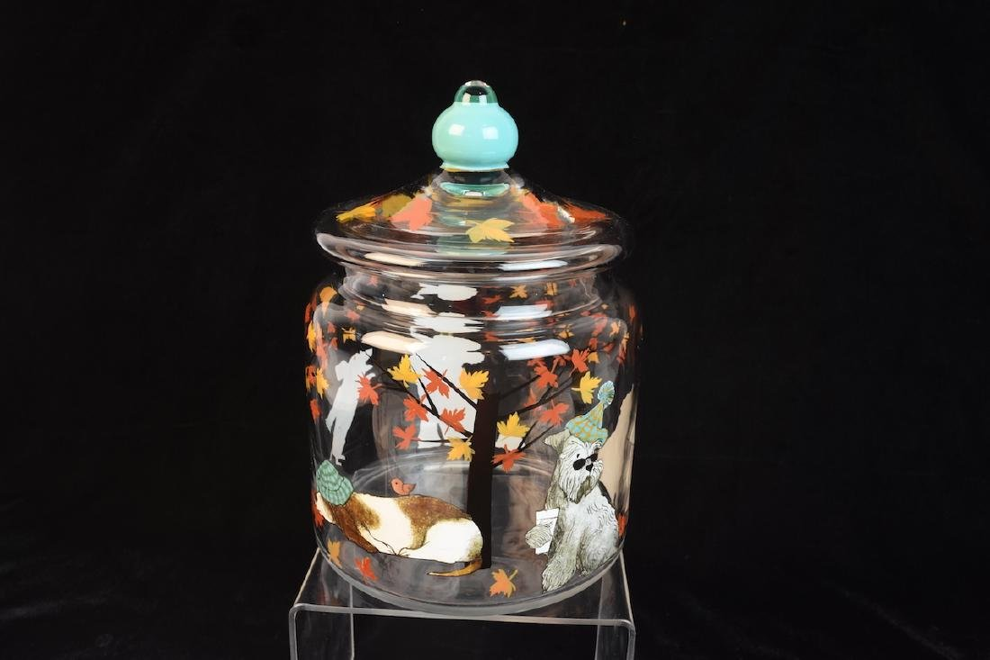 Whimsical Dog Inspired Bowls, Tray & Jar - 3