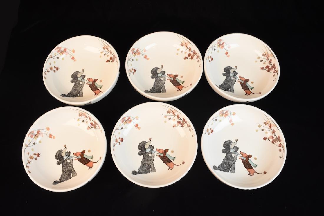 Whimsical Dog Inspired Bowls, Tray & Jar - 5