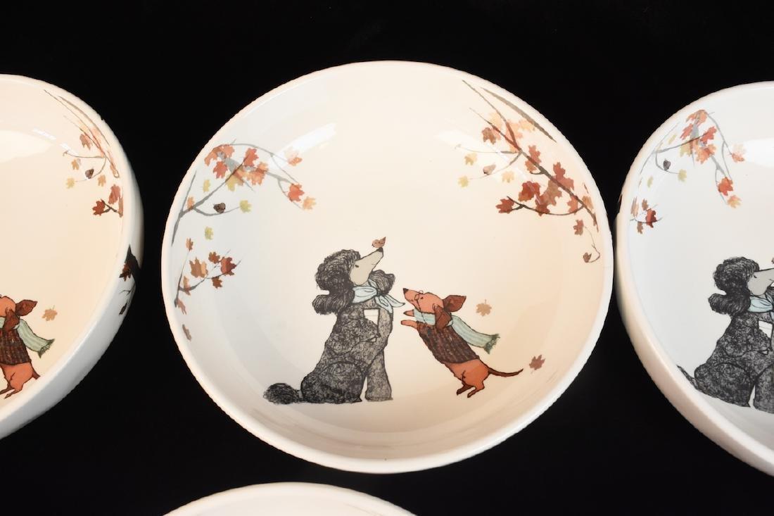 Whimsical Dog Inspired Bowls, Tray & Jar - 6