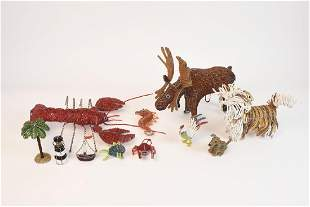 Glass Seed Bead Animals Object