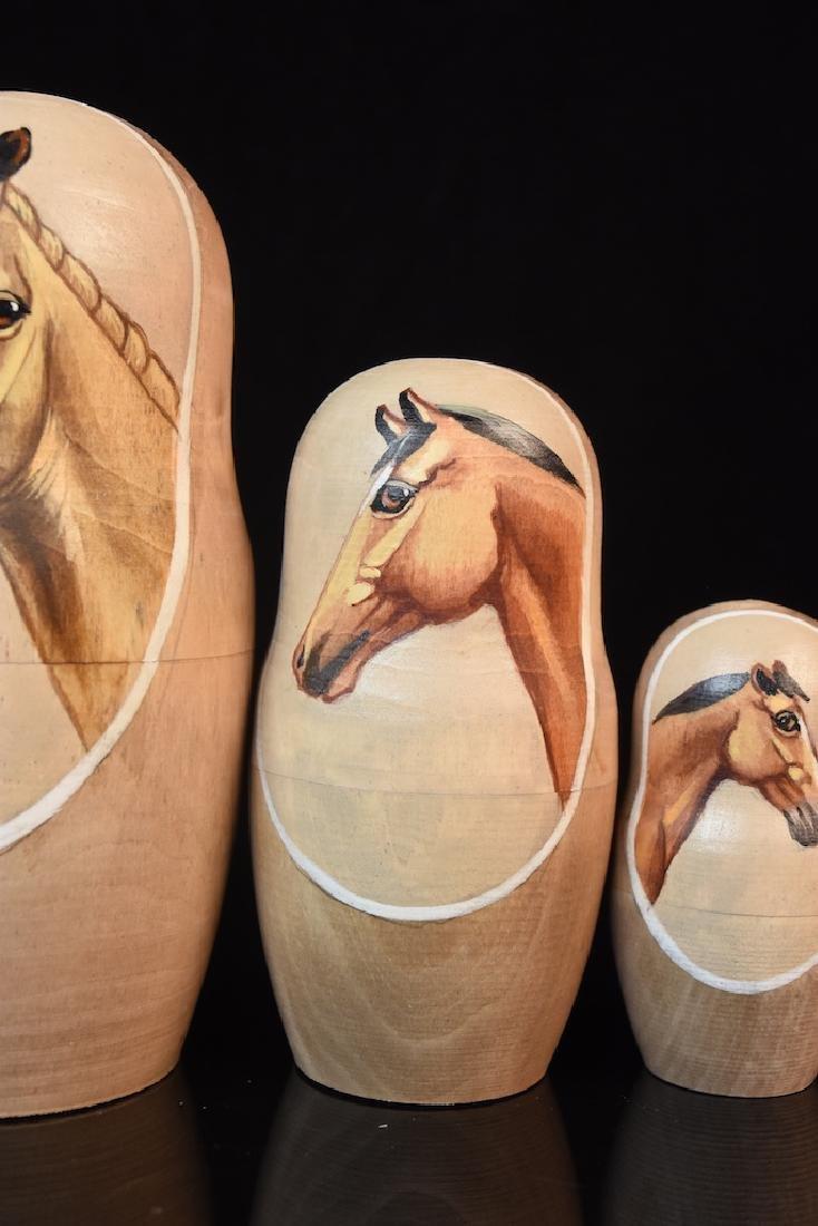 Russian Nesting Dolls, horse heads - 4
