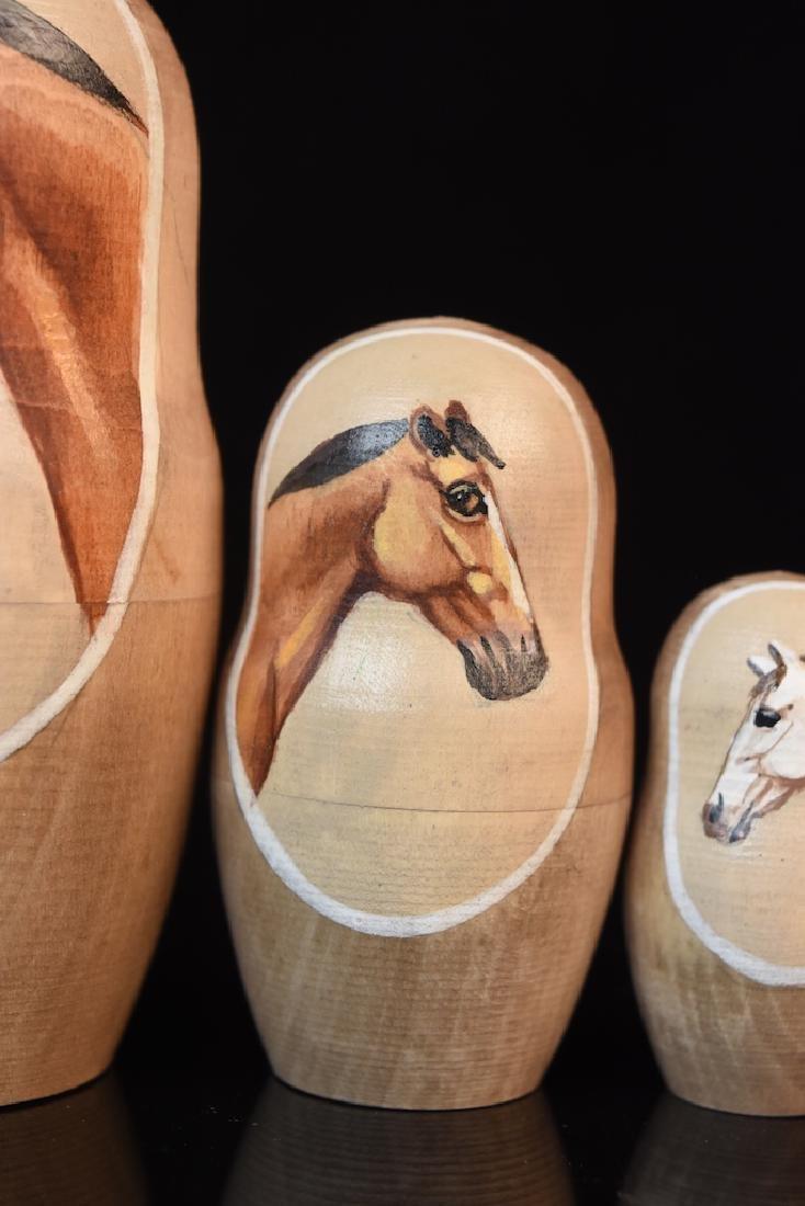 Russian Nesting Dolls, horse heads - 5