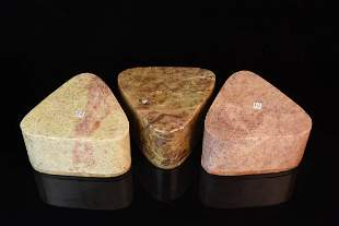 Carved Indian Soapstone Trinket Boxes