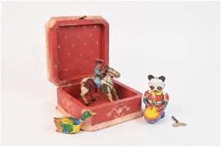 Vintage Tinlitho Windup Children Toys