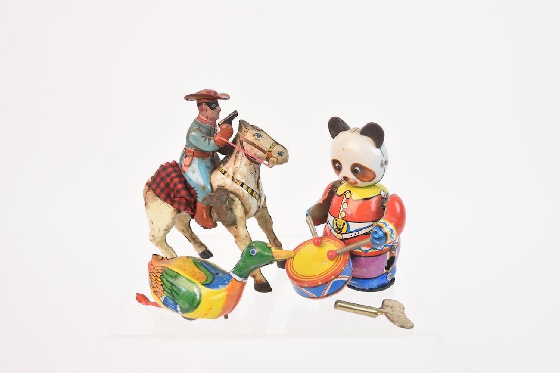 Vintage Tin-litho Wind-up Children Toys - 4