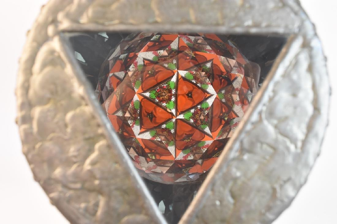 Steve Failows Burl Stained Glass Telescope - 10