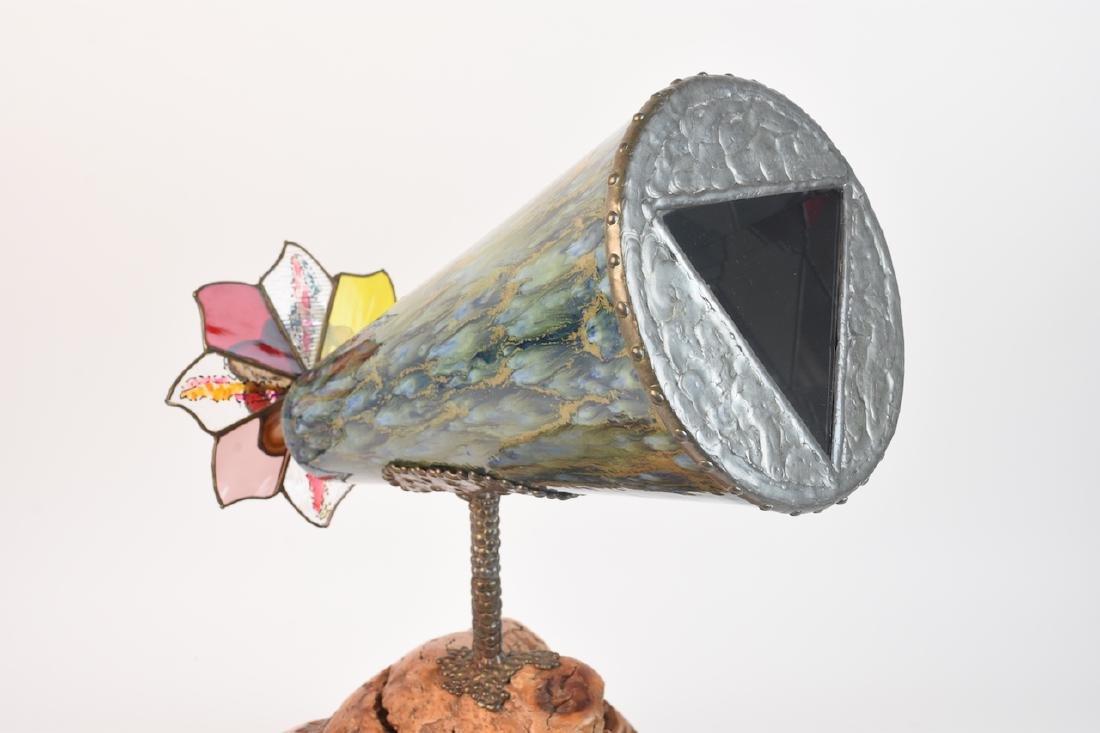 Steve Failows Burl Stained Glass Telescope - 6