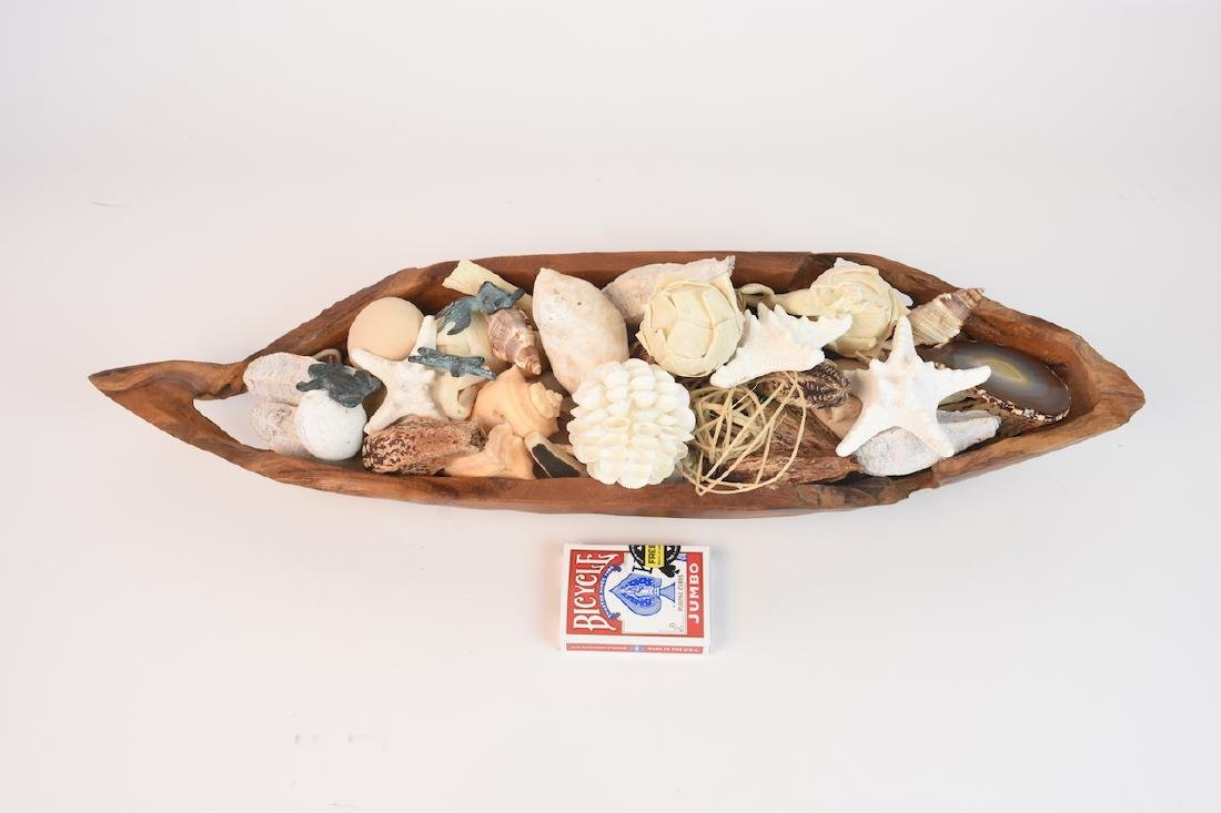Driftwood Bowl Full of Natural Sea Decor - 10