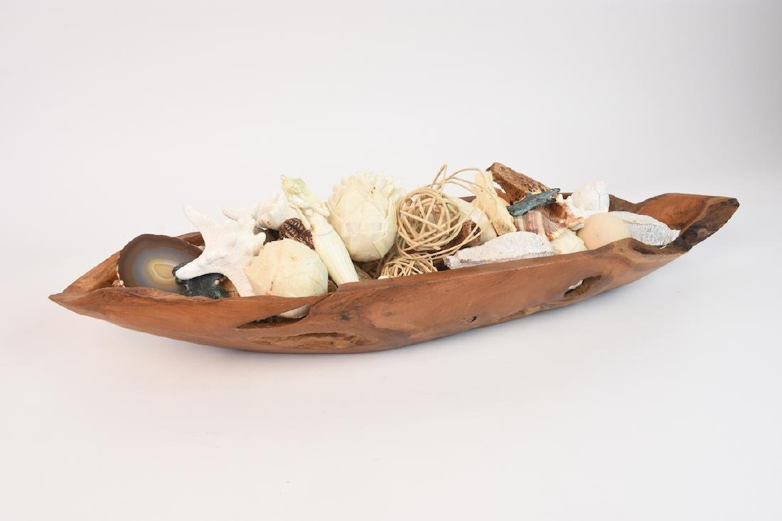 Driftwood Bowl Full of Natural Sea Decor