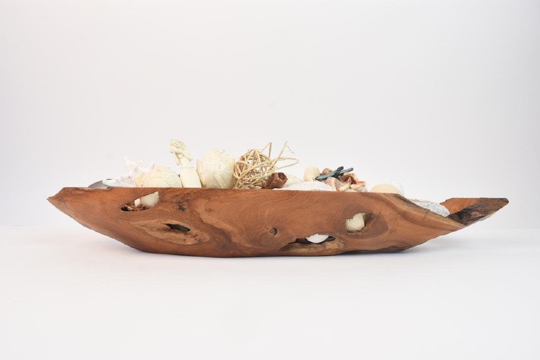 Driftwood Bowl Full of Natural Sea Decor - 2