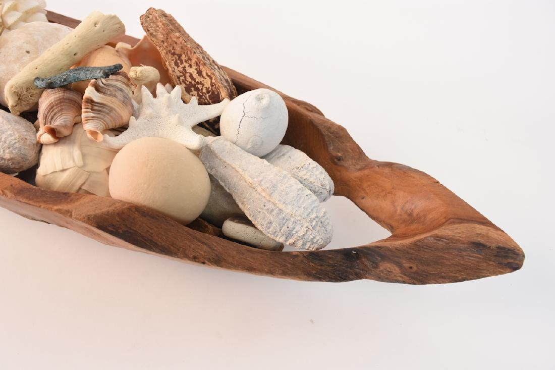 Driftwood Bowl Full of Natural Sea Decor - 5