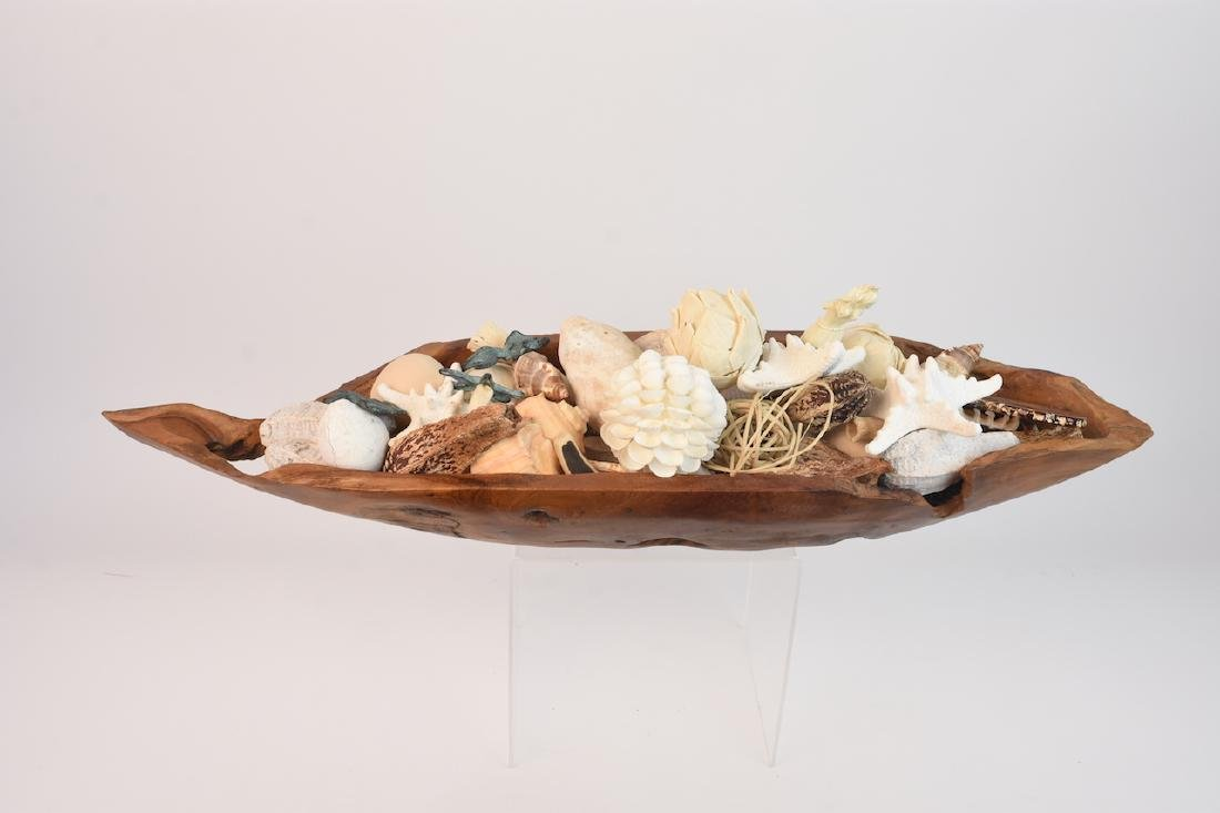Driftwood Bowl Full of Natural Sea Decor - 8
