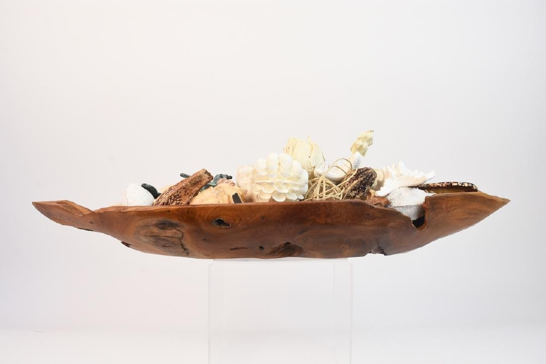 Driftwood Bowl Full of Natural Sea Decor - 9