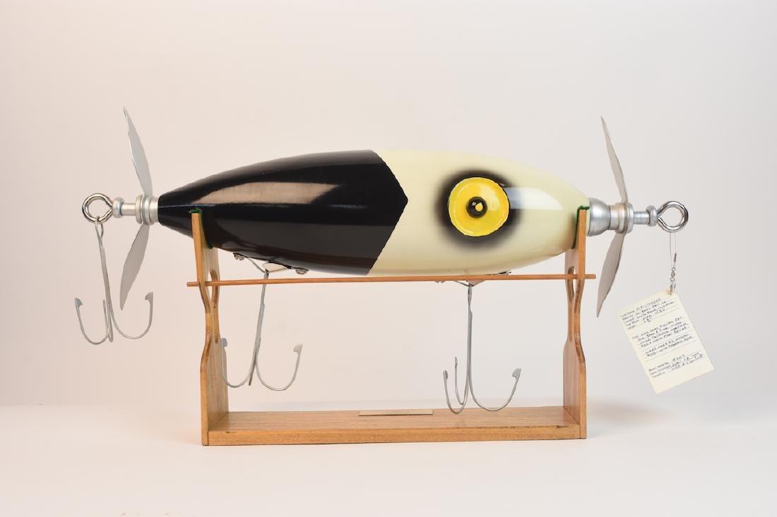 Handmade Vintage Fishing Lure Model, signed - 3