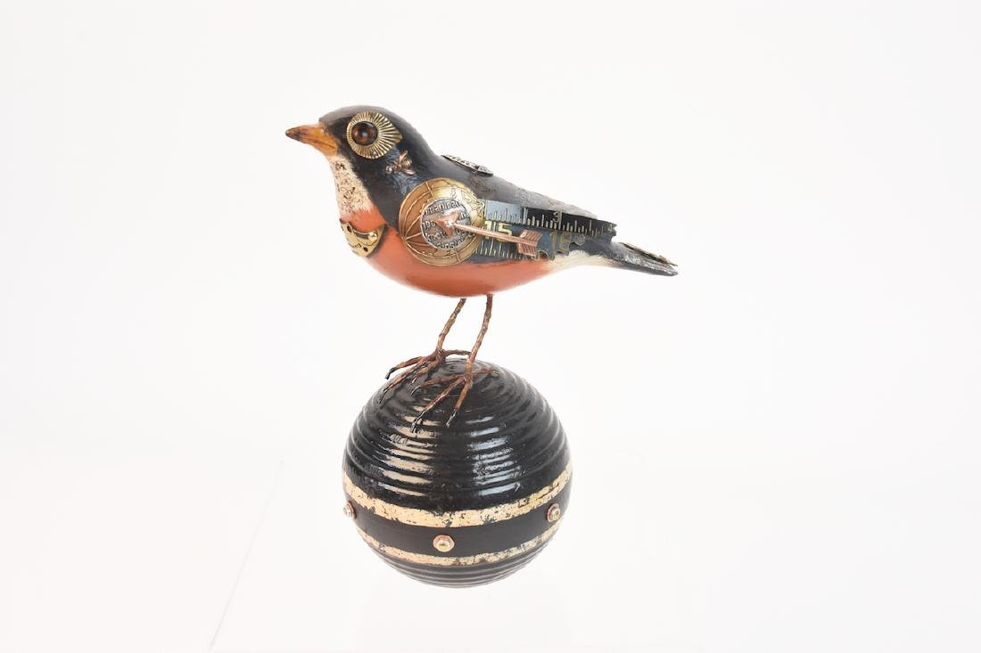 Mullanium Embellished Decoy Bird by Mullan; signed