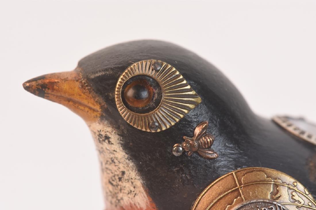 Mullanium Embellished Decoy Bird by Mullan; signed - 7
