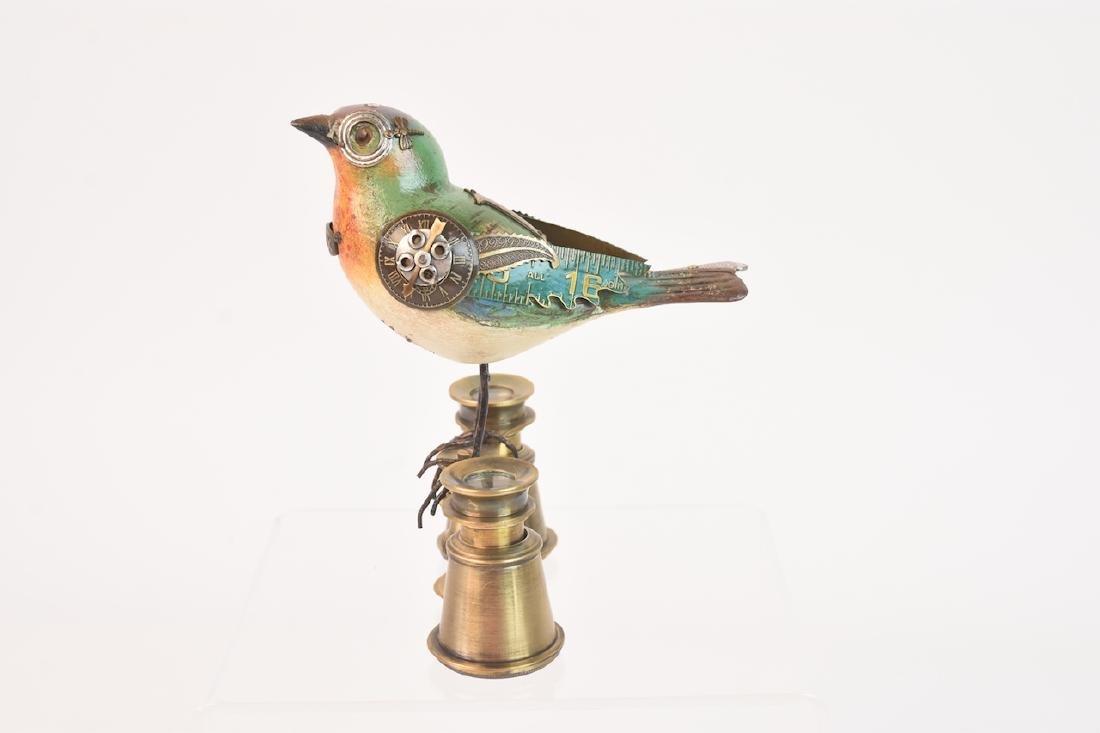 Vintage Steampunk Bird Decoy Jim & Tori Mullan - 2
