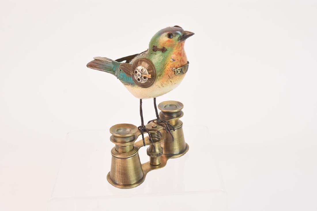 Vintage Steampunk Bird Decoy Jim & Tori Mullan - 4