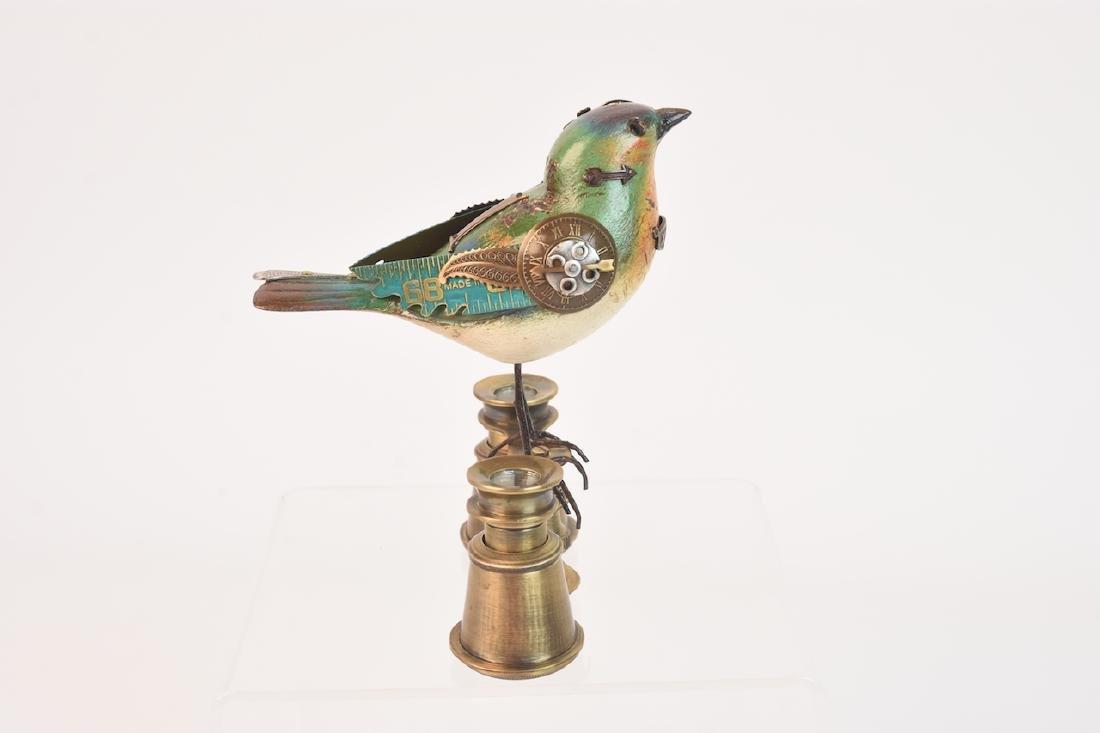 Vintage Steampunk Bird Decoy Jim & Tori Mullan - 5
