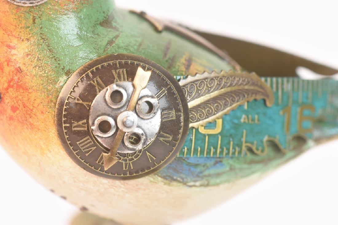 Vintage Steampunk Bird Decoy Jim & Tori Mullan - 7