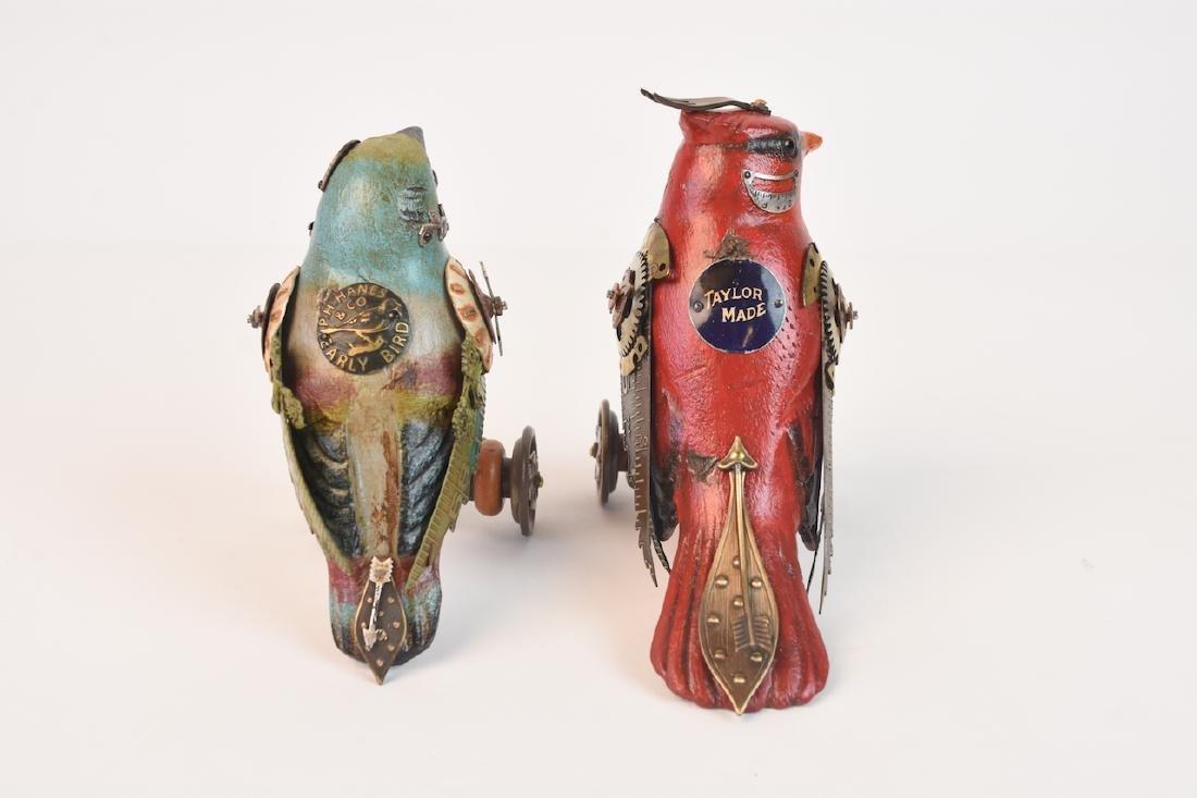 Pair of Mullanium Decoy Birds Mullan Steampunk - 4